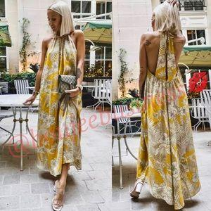 ZARA Flowy Floral Printed Dress